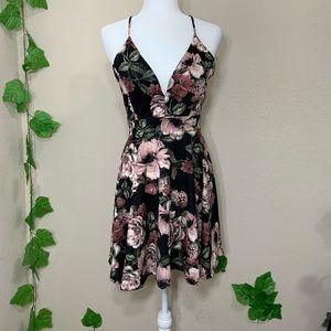 Windsor Floral Lace Black Skater A Line Dress New